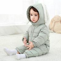 2018 Baby Boy Girl Clothes Cute Rabbit Ear Hooded Baby Romper Newborn Cotton Baby Clothing Jumpsuit