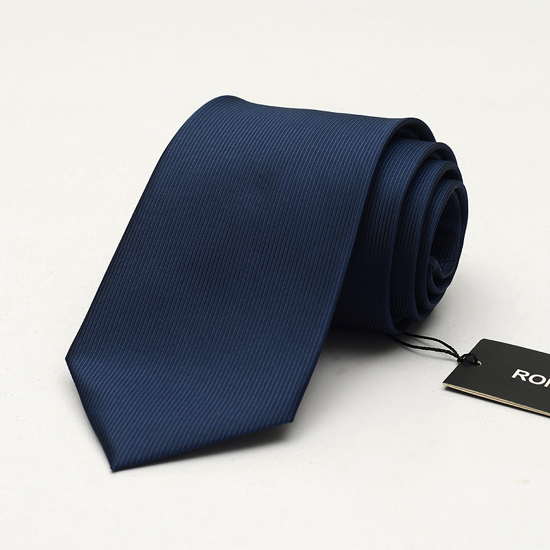 Navy Blue Formal Ties for Men Designer Fashion 8cm Business Necktie Male Profession Wear Office Work Corbatas Gravata Gift BOX