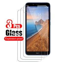 3 Pcs Voor Xiaomi Redmi 7A Gehard Glas Screen Protector Voor Xiaomi Redmi 7A Front Beschermende Glas Schild Film 9 H