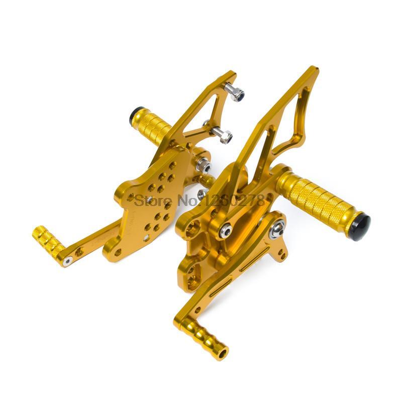 Регулируемые педали мотоцикла с ЧПУ Rearset задний комплект подножки подножки для Ямаха YZF-Р25/Р3 2014 2015 2016 золото