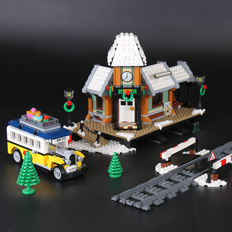 36011 Creator Winter Holiday Village Station Figure Building Blocks Children Kids Toys Compatible with 10259