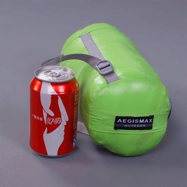 Aegismax Сверхлегкий удлиненный спальный мешок для мам, белый гусиный пух, для кемпинга, Прошитый через черный и зеленый, 200x80 см/180x78 см