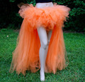 2014 mulheres gaze sopro saia metade do comprimento de saia de dança fada tutu vai