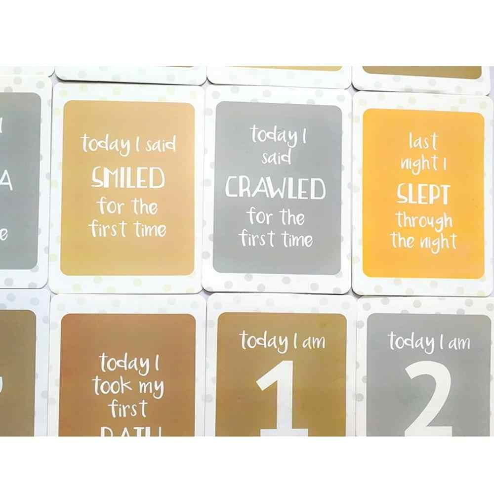 24 sztuk/zestaw dla pamięci dziecko kobiety w ciąży miesięczne karty fotograficzne zabawa miesiąc kamień milowy