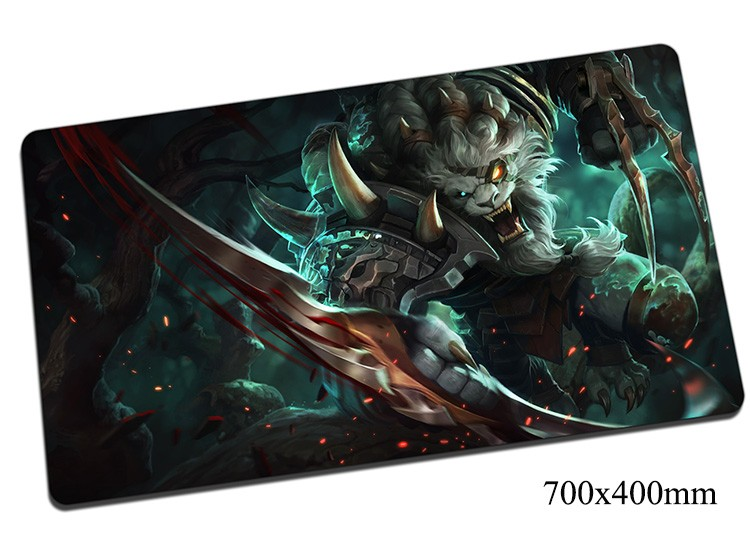 Rengar Mouse Pad 70x40cm Gaming Mousepad Gear Lol Gamer Mouse Mat Pad Pridestalker Game Computer High-end Mouse Play Mats