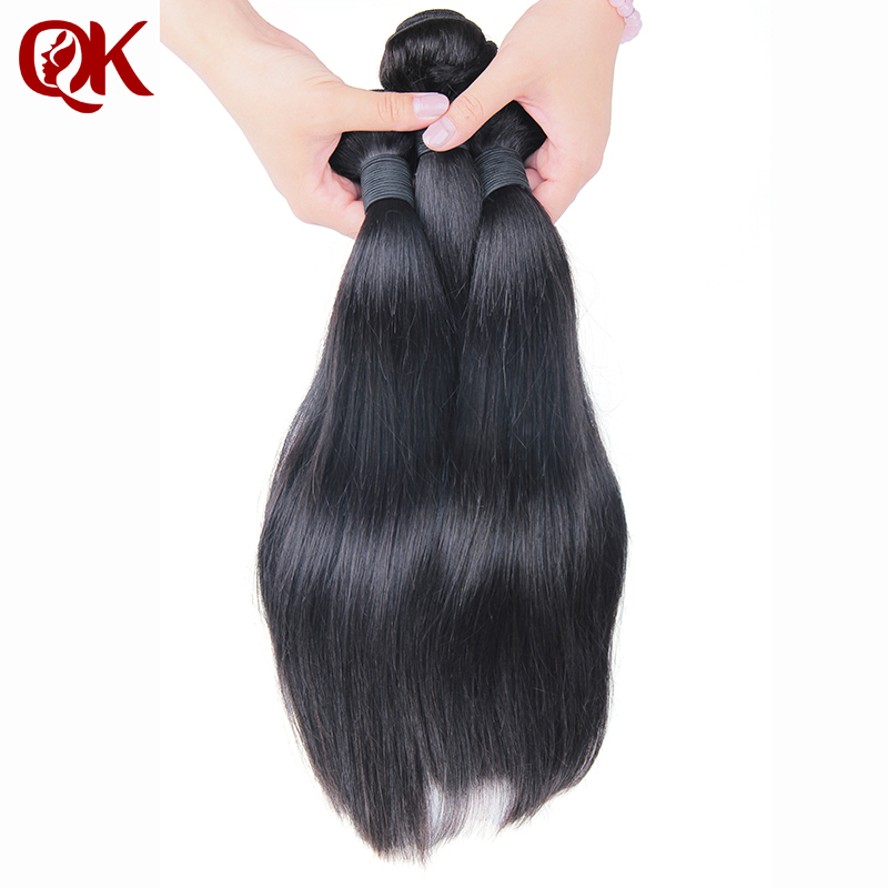 QueenKing  Peruvian Human Hair Straight 3 Bundles Hair Weave Weft Extension Remy Hair Free Shipping