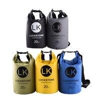 20L PVC Swimming Bag Waterproof High capacity Outdoor Camping Backpack Diving Drift Beach For Cloth Phone Waterproof Storage Bag