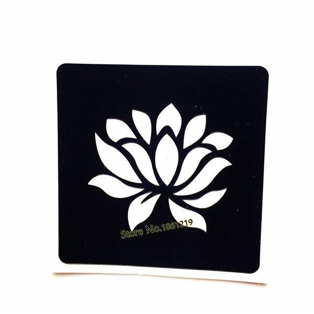 fd75609da7a66 Beauty Body Art Lotus Flower Henna Tattoo Stencils Women Makeup Tips