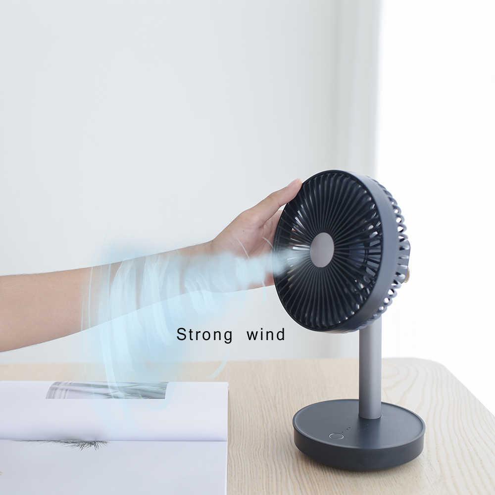 Zaiwan Neue Kühl P19 Einstellbar Tragbare Mini Hand Fans 4000mAh Wiederaufladbare USB Schreibtisch Luftkühlung Fan