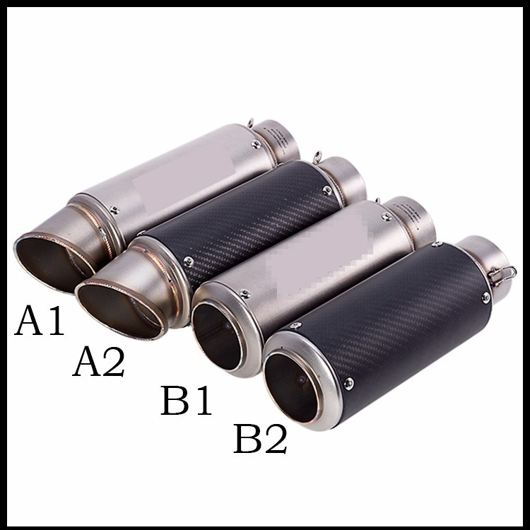 Motorcycle Exhaust Pipe Muffler Inlet 51mm 61mm S.C G.P Exhaust Mufflers Carbon Fiber Exhaust Pipe With Sticker Laser Logo for bmw motorcycle exhaust pipe muffler inlet 51mm 61mm r3 gp exhaust mufflers carbon fiber exhaust pipe with sticker laser logo