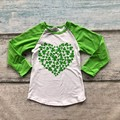 baby girls clothes raglan tops St Patrick raglan girls raglans Autumn top girls shamrock heart raglans kids icing raglans tshirt