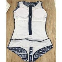 Dresswear 2017 Japanese Sukumizu School Swimsuit One Pieces Women Print Sexy Two Zipper Swimwear Slimming Bathing Beachwear