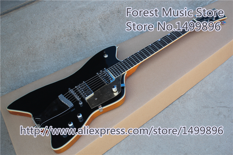 Hot Selling China Black Gre.6199 Billy-Bo Jupiter Thunderbird Electric Guitar For Sale In stock china custom guitar factory electric guitar flying v standard dot inlay in stock for sale