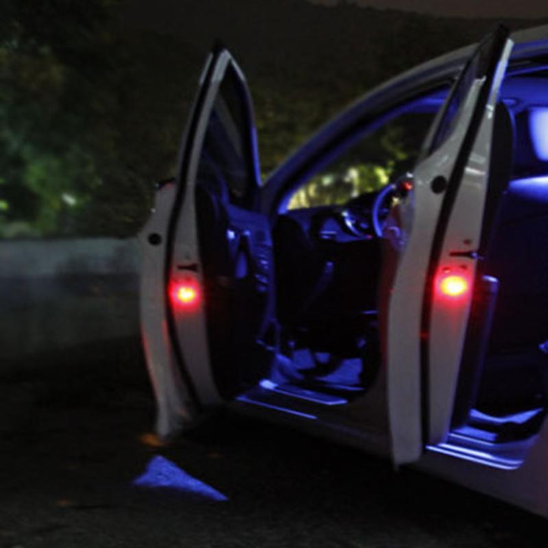 Us 358 19 Off2 Sztuk Uniwersalny Magnes Flash światła Ostrzegawcze Bezprzewodowe Drzwi Samochodu Led Koraliki światła Automatyczne Oświetlenie