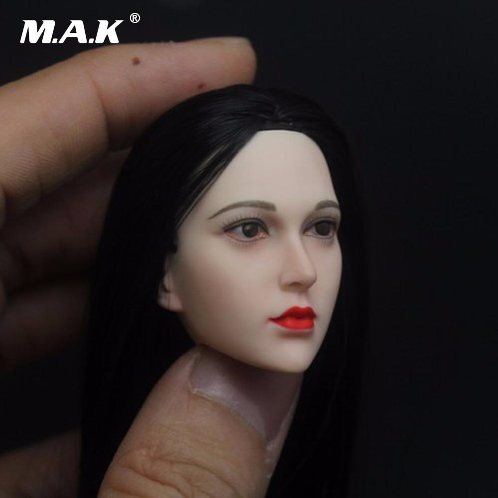 1/6 Scale Asian Beauty Female Head Sculpt Model Toys Pale Color for 12 JIAOUDOL Woman Action Figure Collections 12 inch 1 6 scale male head sculpt for 12 men action figure toys collections