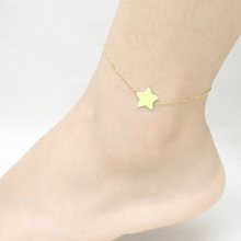 star anklet for women stainless steel jewelry accessories ankle bracelet on the leg barefoot foot chain beach silver gold boho(China)
