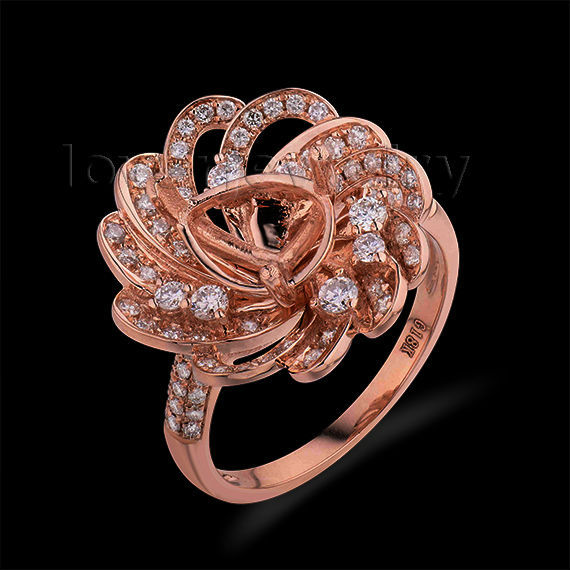 Fashion Queen 7X9mm Pear Cut Semi Mount Natural Diamond Engagement Ring 18Kt Rose Gold WU267Fashion Queen 7X9mm Pear Cut Semi Mount Natural Diamond Engagement Ring 18Kt Rose Gold WU267