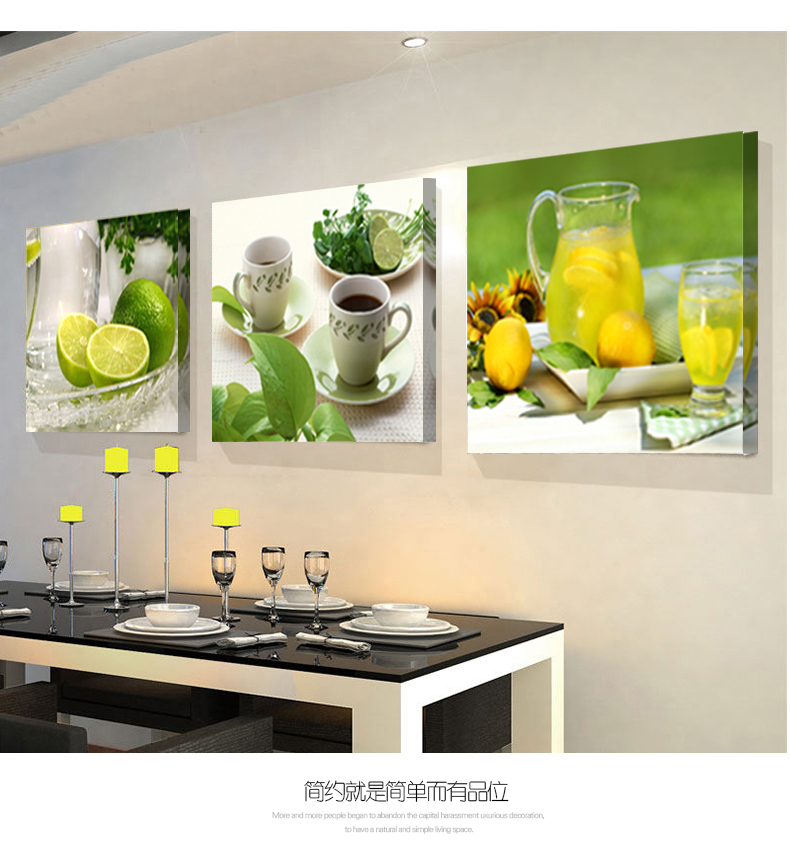 Us 713 28 Off2018 Modułowe Obrazy 3 Panele Obrazy Do Kuchni Owoce Dekoracje ścienne Nowoczesne Na Płótnie Wall Art Obraz Do Salonu Descora W