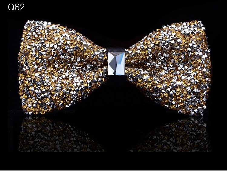 New bow tie crystal bling butterfly knot for men wedding banquet feast club party bridegroom shinning 11