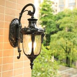Oświetlenie ogrodowe zewnętrzne oświetlenie LED kwadratowe ogrodzenie ogród ganek oświetlenie na zewnątrz kinkiet na balkon ogród kolumna oświetlenie|Zewnętrzne lampy ścienne|   -