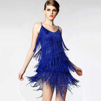 Roaring Finge Sequin Spaghetti Strap Twenties Great Gatsby Girls Style Party Dress Flapper Costumes for Ladies Women Female - DISCOUNT ITEM  5% OFF Novelty & Special Use