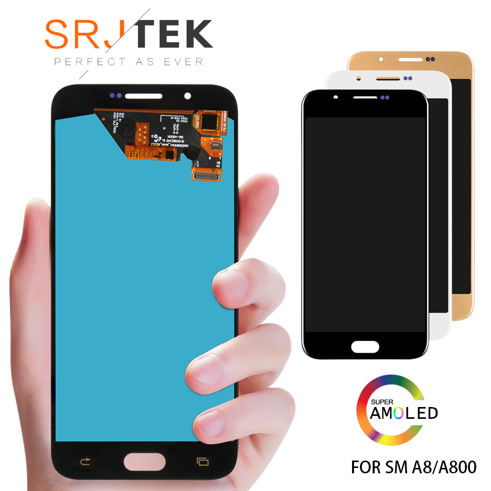 Super AMOLED Screen Compatible For Samsung A8 2015 A8000 A800 A800F LCD Display Touch Screen Digitizer Assembly