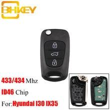Складной дистанционный ключ bhkey для hyundai id46 3 кнопки