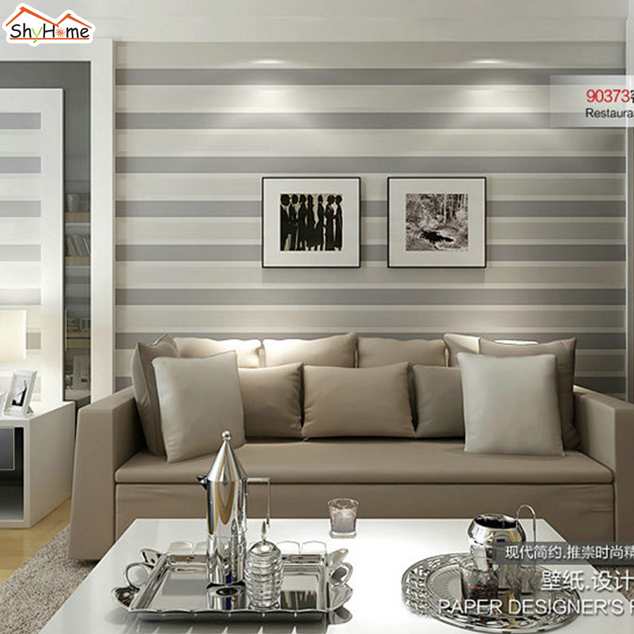Popular demark flower strip golden line 3d wall paper room for Wallpaper home line