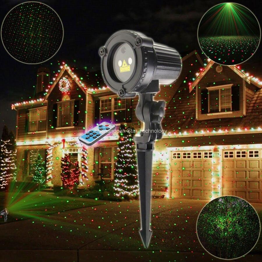 ESHINY Remote Outdoor WF R&G Laser Full Stars Projector Landscape Dance Bar Xmas Garden Party House Wall Tree Effect Light T119 selena gomez stars dance cd