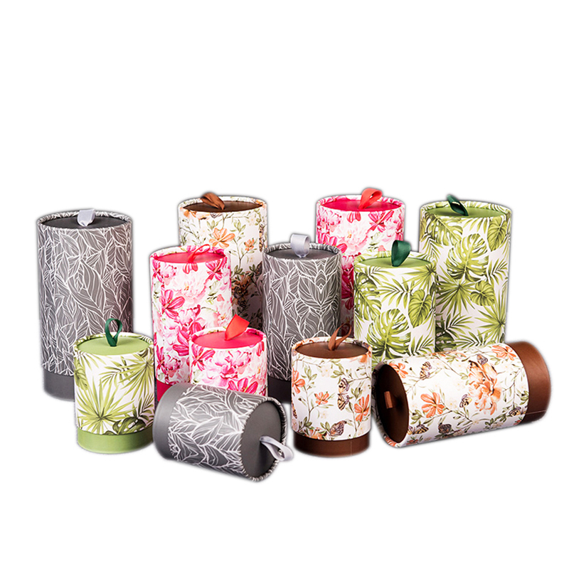 Xin Jia Yi Packaging Box White Paper Cardboard Silk Rope CMYK Print Tube Wedding Party Gift Package High Quality Boxes Supplier