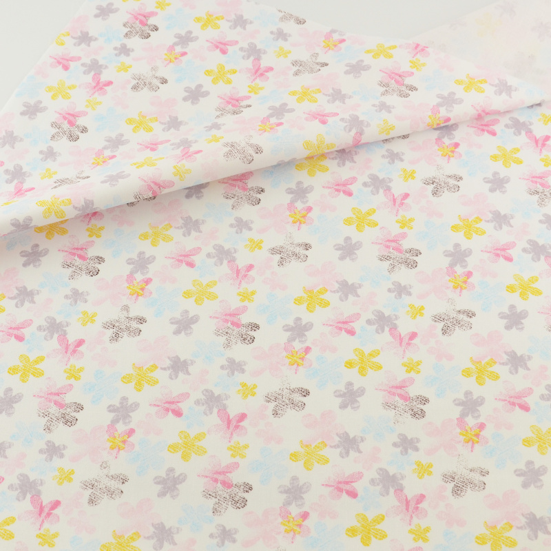 Floral Cotton Fabric Teramila Fabrics Clothing Patchwork Quilting Sewing Cloth Cover Crafts Bedding Home Textile Decoration
