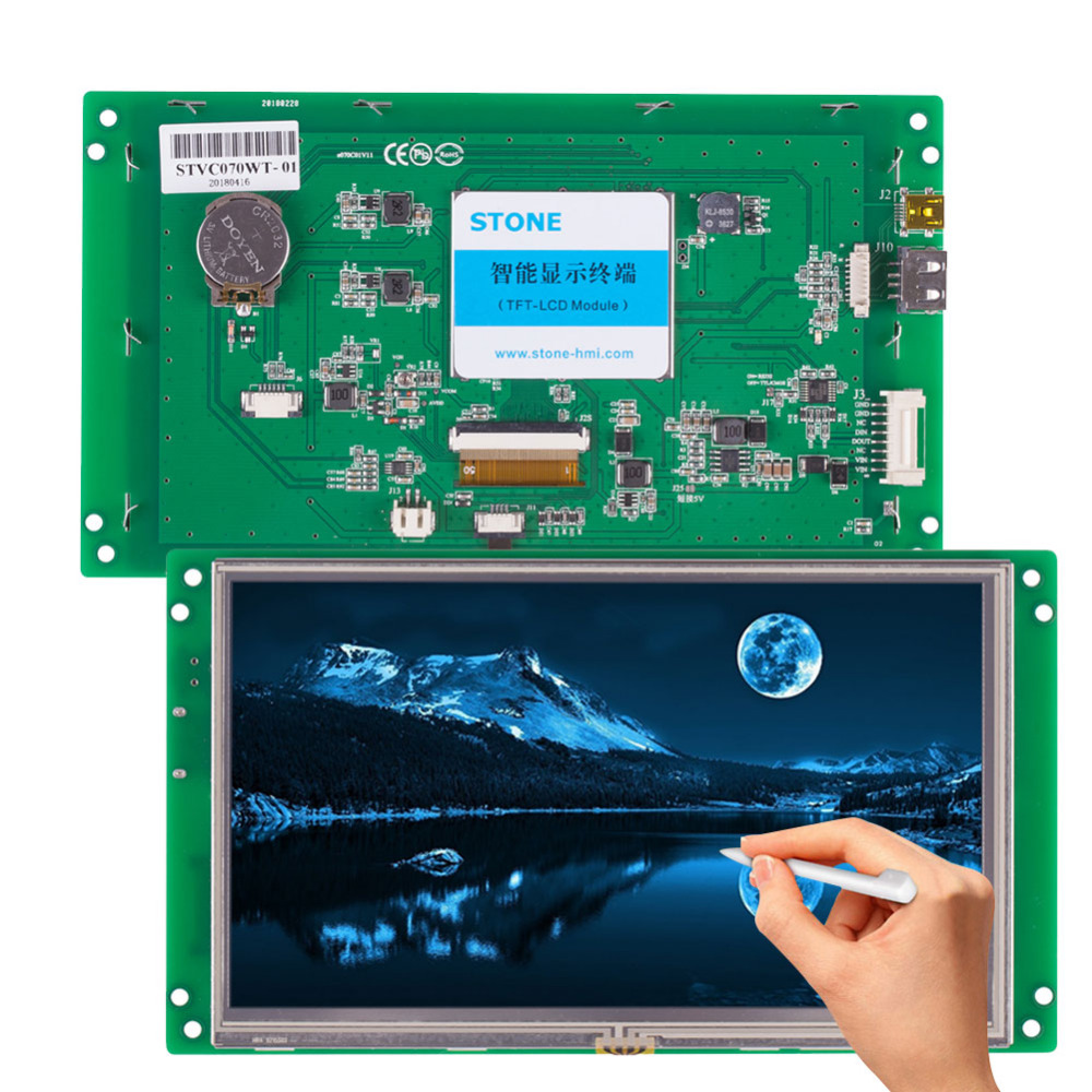 7 Programmable Touch Screen Operator Panel with Serial Interface Support Any Microcontroller7 Programmable Touch Screen Operator Panel with Serial Interface Support Any Microcontroller