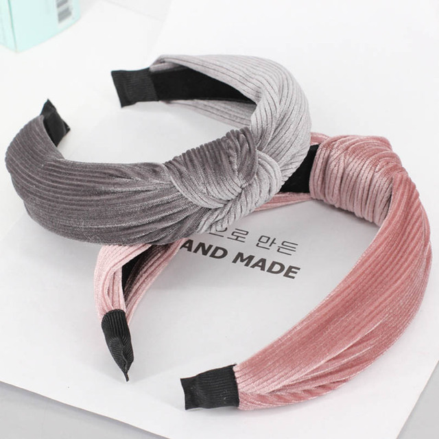 5b36a09bd71 Haimeikang vintage velvet knot design Hairband for women girls color  headbands female fashion hairbands custom hair accessories