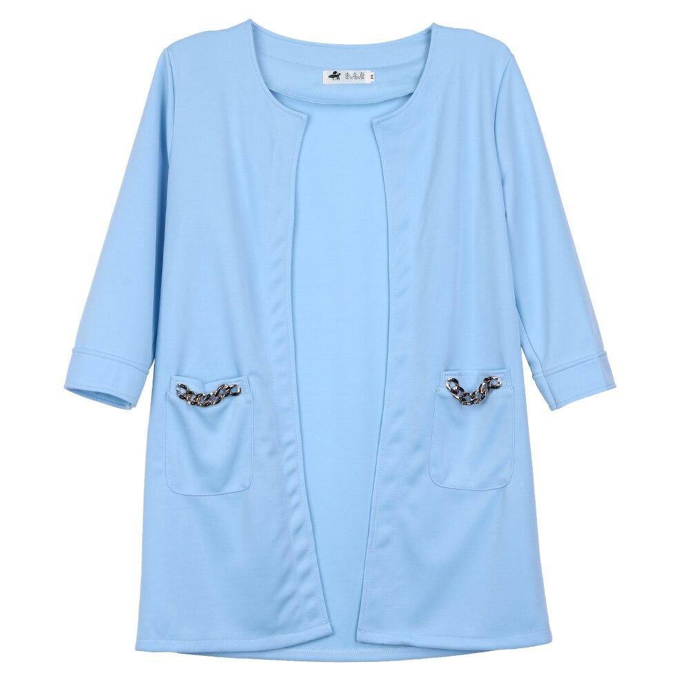 חדש סתיו חורף נשים קרדיגן כיס מוצק נשי מעיל ארוך שרוול פשוט סגנון נשים סרוג סוודר קרדיגן