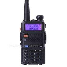 BaoFeng UV 5R اسلكية taklie الإرسال والاستقبال 5W VHF UHF المزدوج الفرقة 136 174/400 520 MHz هام CB FM اتجاهين راديو سماعة الأذن مجانا