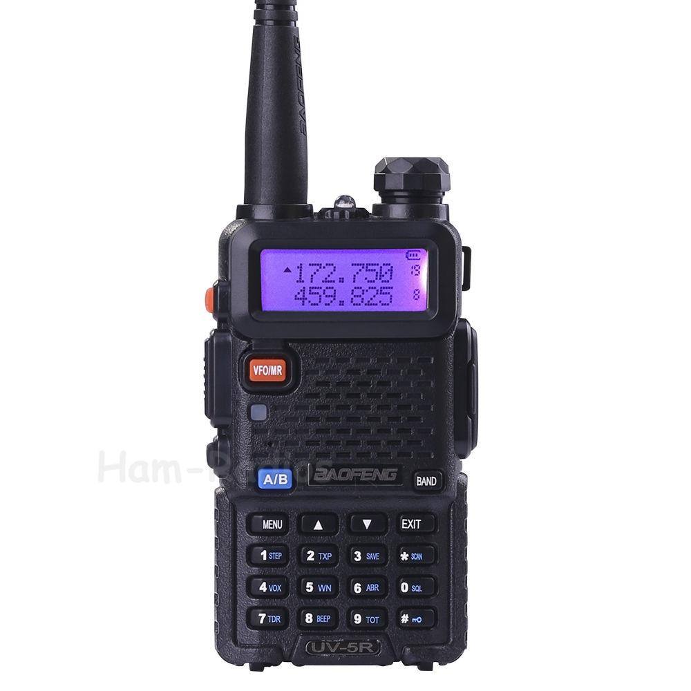 BaoFeng UV-5R walkie taklie transceiver 5 Watt VHF UHF Dual Band 136-174/400-520 MHz Ham CB FM zweiwegradio Freier hörmuschel