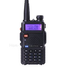 BaoFeng UV-5R walkie taklie transceiver 5W VHF UHF Dual Band 136-174/400-520 MHz Ham CB FM two way radio Free earpiece