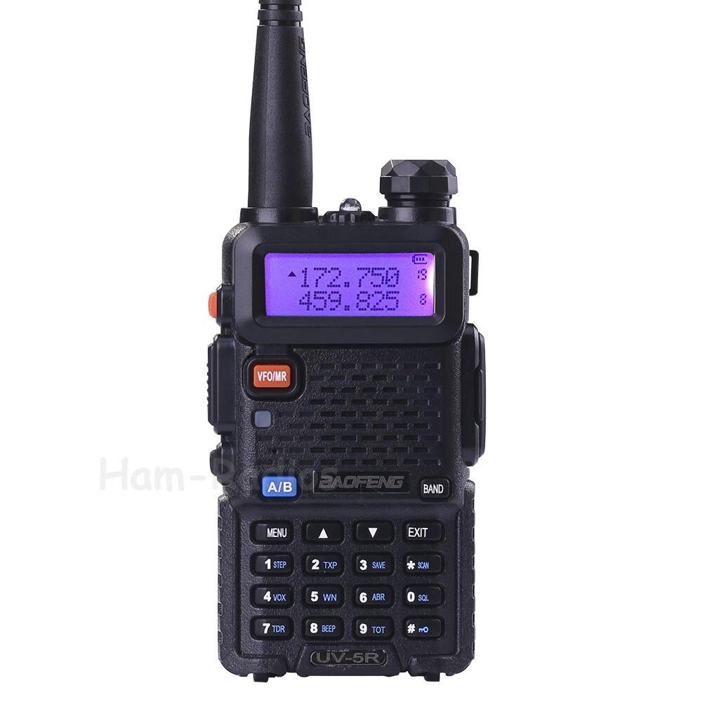 imágenes para Baofeng uv-5r walkie taklie transceptor 5 w vhf uhf de doble banda 136-174/400-520 mhz jamón cb fm radio de dos vías libre del auricular