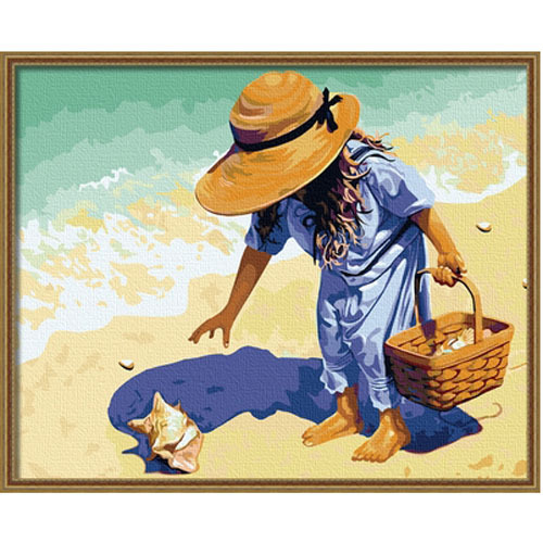 Diy digital oil painting diy oil painting digital color painting decoration figure painting 40 50