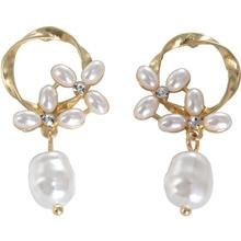 SANSUMMER Bohemia Flower Pearl Zinc Alloy Feautiful Europe And America Style Women Jewelry Drop Earrings 6325 цена