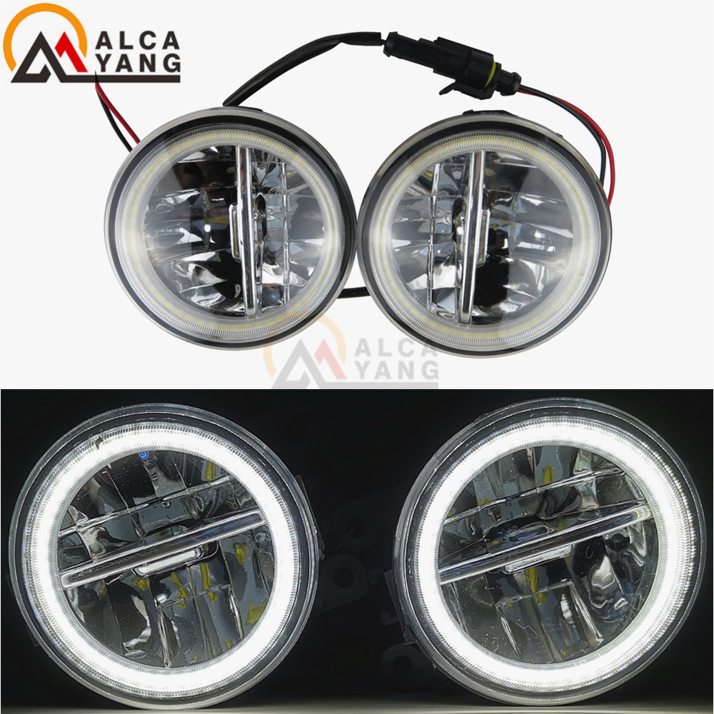 Car LED Bulb Fog Light DRL Daytime Running Lamp 12V For Nissan X-Trail T31 Closed Off-Road Vehicle 2007-2013