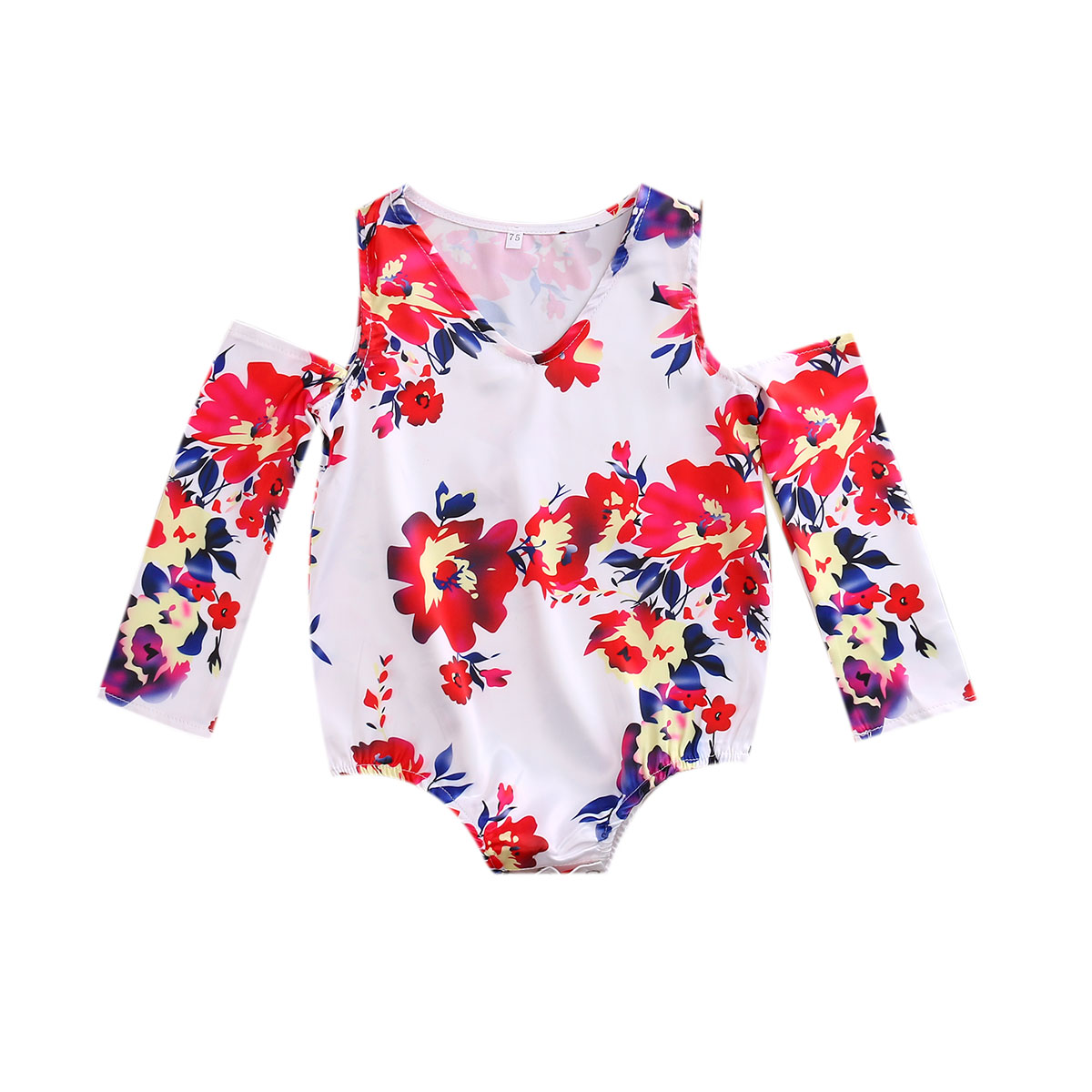 HOT selling Floral Off Shoulder Baby clothing Toddler Kids Baby Girls Romper Jumpsuit Outfits Clothes 0-4T