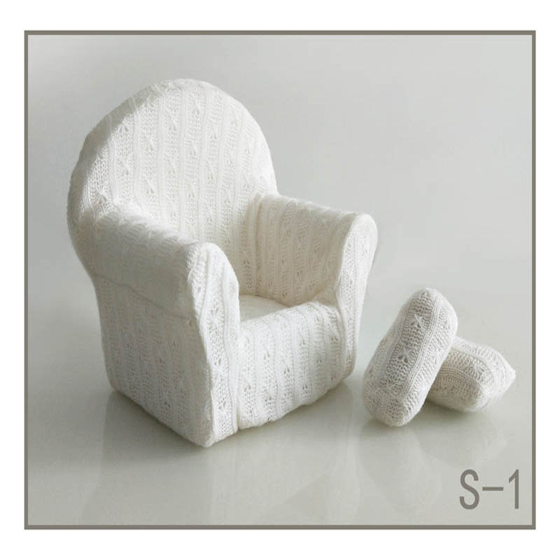 Реквизит для фотосъемки новорожденных, позирующий мини-диван, кресло на руку и 2 подушки, реквизит для фотосессии, студийные аксессуары для детей 0-3 месяцев - Цвет: 15
