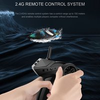 JJR/C S3 2.4GHz RC Brushed Speedboat 2 Channels High Speed Mini Racing Boat USB Charging RTR Remote Control Speedboat Toy HOT