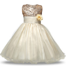 Flower Baby Girl Dress 2018 Fashion Infant Vestido Sleeveless Baby Clothing Ball Gown Solid Wedding Party