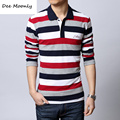 DEE MOONLY 2017 Mens Fashion Designer Slim Fit Dress man Shirts Tops & tees Western Casual Brand casual long-sleeved t-shirt men