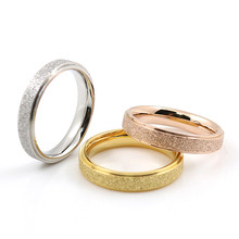Punk Engagement Jewelry Women Ring Gold Plated Vintage Smart Colored Titanium Rings Colorful Dull Polish Men Finger Love Rings