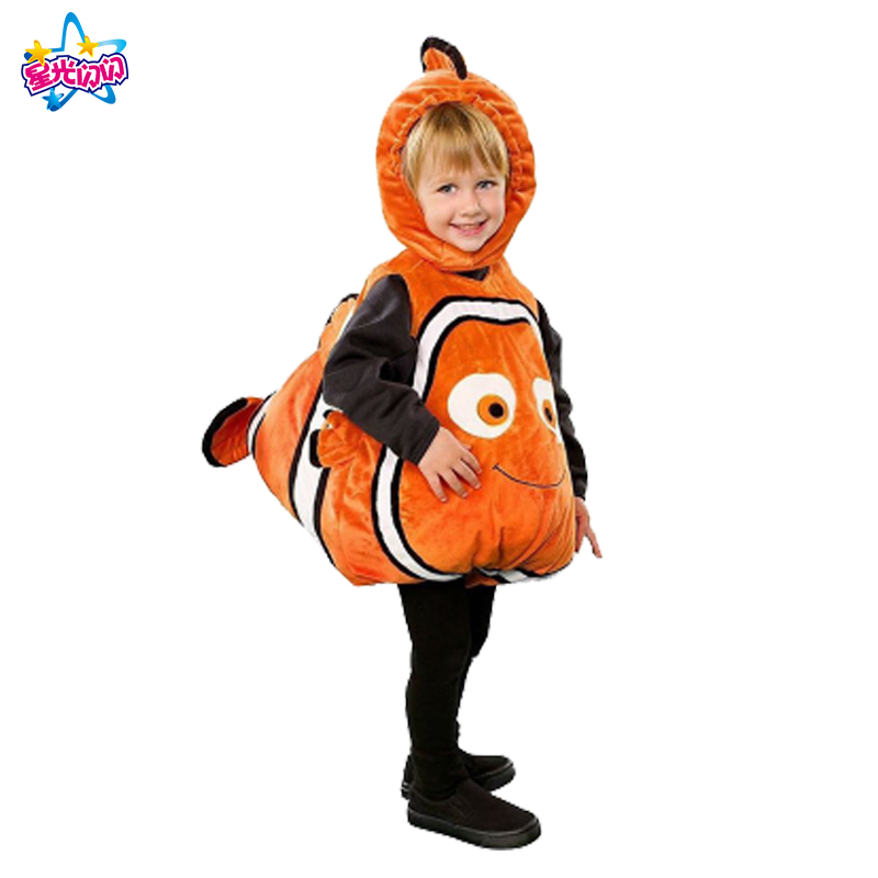 Christmas Halloween Kids Costume Clownfish Cosplay Pixar Animated Film Finding Nemo Little Baby Fishy Carnival Cosplay Clothes