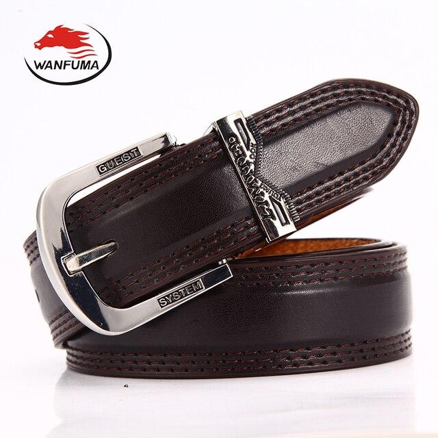 0242bcdb996 WANFUMA PU ceinture en cuir pour hommes hommes de ceinture de luxe de ceinture  femme jaune