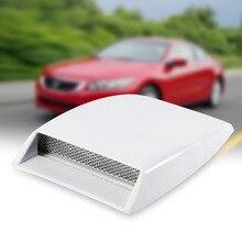 Автомобильный декоративный воздухозаборный ковш ABS и алюминиевая решетка, сетчатая крышка капота, наклейка на капот, белый автомобильный Стайлинг, универсальный